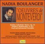 Nadia Boulanger: Oeuvres de Monteverdi