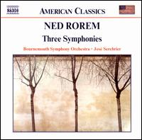 Ned Rorem: Three Symphonies - Bournemouth Symphony Orchestra; José Serebrier (conductor)