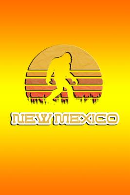New Mexico: Bigfoot themed journal with names of States in America. - Koorey, Nathan