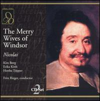 Nicolai: The Merry Wives of Windsor - Erika Köth (vocals); Eva Maria Rogner (vocals); Hans Günther Nöcker (vocals); Hertha Töpper (vocals);...