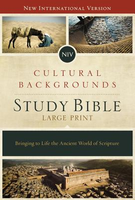 NIV, Cultural Backgrounds Study Bible, Large Print, Hardcover, Red Letter Edition: Bringing to Life the Ancient World of Scripture - Keener, Craig S (Editor)