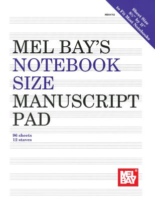 Notebook-Size Manuscript Pad 12-Stave - Mel Bay Publications Inc (Creator)