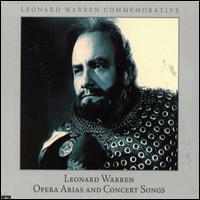 Opera Arias & Concert Songs - Leonard Warren (vocals); Raymond Keast (vocals); Willard Sektberg (piano)
