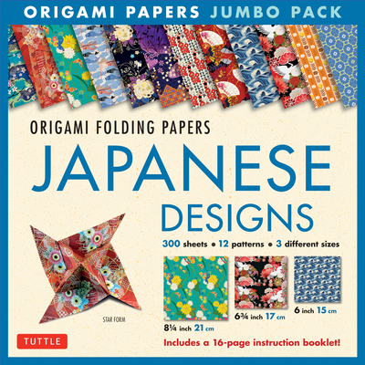 Origami Papers Jumbo Pack - Japanese Designs: 300 High-Quality Origami Papers in 3 Sizes (6 Inch; 6 3/4 Inch and 8 1/4 Inch) and a 16-Page Instructional Origami Book - Publishing, Tuttle