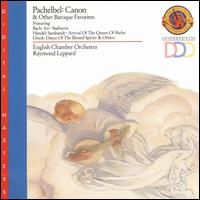 Pachelbel: Canon - Neil Black (oboe); Raymond Leppard (harpsichord); William Bennett (flute); English Chamber Orchestra;...
