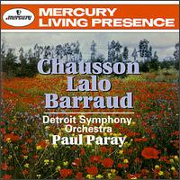 Paray Conducts Chausson, Lalo, and Barraud - Albert Tipton (flute); Detroit Symphony Orchestra; Paul Paray (conductor)