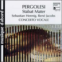 Pergolesi: Stabat Mater - Anthony Woodrow (violone); Concerto Vocale; Dirk Vermeulen (violin); Johan Huys (organ); René Jacobs (haute contre vocal); Richte Van Der Meer (cello); Ruth Hesseling (alto); Sebastian Hennig (soprano); Staas Swierstra (violin)