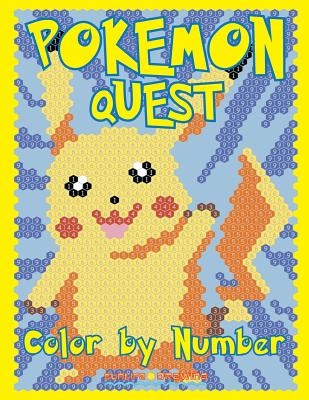 POKEMON QUEST Color by Number: Activity Puzzle Coloring Book for Children and Adults - Drawing, Sunlife