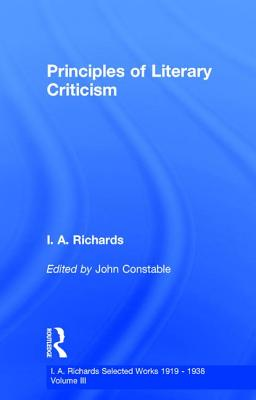 Princ Literary Criticism V3 - Constable, John, and Richards, I. A.