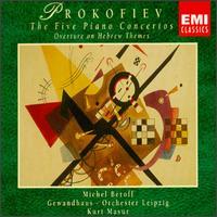 Prokofiev: Piano Concertos Nos. 1-5 - Michel Béroff (piano); Michel Portal (clarinet); Quatuor Parrenin; Leipzig Gewandhaus Orchestra; Kurt Masur (conductor)