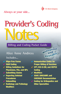 Providers' Coding Notes: Billing and Coding Pocket Guide - Andress, Alice Anne