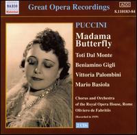 Puccini: Madama Butterfly - Adelio Zagonara (vocals); Beniamino Gigli (vocals); Ernesto Dominici (vocals); Gino Conti (vocals);...