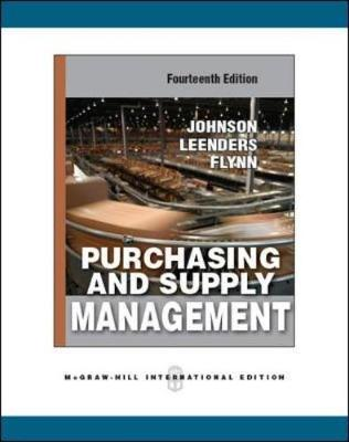Purchasing and Supply Management (Int'l Ed) - Johnson, P. Fraser, and Leenders, Michiel R., and Flynn, Anna
