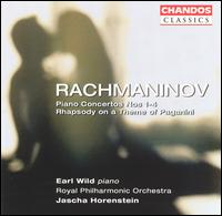 Rachmaninov: Piano Concertos Nos. 1-4; Rhapsody on a Theme of Paganini - Earl Wild (piano); Royal Philharmonic Orchestra; Jascha Horenstein (conductor)