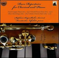 Rare Repertoire for Clarinet and Piano -