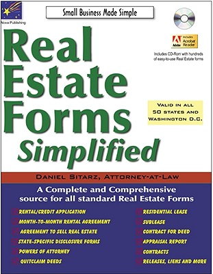 Real Estate Forms Simplified - Sitarz, Daniel