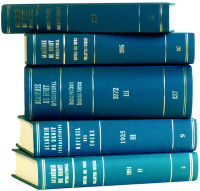 Recueil Des Cours: Volume 161 (1978/III) - Academie de Droit International de la Haye