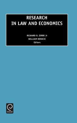Research in Law and Economics, Volume 19 - R O Zerbe, Zerbe