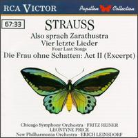 Richard Strauss: Also sprach Zarathustra; Vier letzte Lieder; Die Frau ohne Schatten: Act II (Excerpt) - Leontyne Price (soprano); Patricia Clark (soprano)