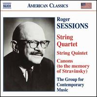 Roger Sessions: String Quartet - Columbia University Group for Contemporary Music; Jenny Douglass (viola); Joshua Gordon (cello)