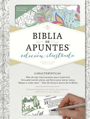 Rvr 1960 Biblia de Apuntes, Edicion Ilustrada, Blanco En Tela Para Colorear - B&h Espanol Editorial (Editor)