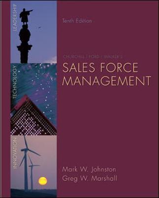 Sales Force Management - Johnston, Mark W