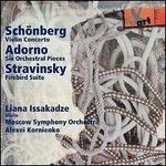 Schönberg: Violin Concerto; Adorno: Six Orchestral Pieces: Stravinsky: Firebird Suite