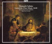 Schütz: Geistliche Chor-Music 1648 - Olaf Rothe (descant); Weser-Renaissance; Manfred Cordes (conductor)