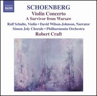 Schoenberg: Violin Concerto; A Survivor from Warsaw - David Wilson-Johnson; Fred Sherry String Quartet; Jeremy Denk (piano); Rolf Schulte (violin);...