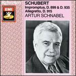 Schubert: Impromptus; Allegretto
