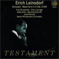Schubert: Mass, No. 6 In E Flat, D.950, Etc. - Betty Allen (counter tenor); Fritz Wunderlich (tenor); Josef Greindl (bass); Manfred Schmidt (tenor);...
