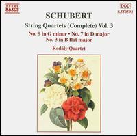 Schubert: String Quartets (Complete), Vol. 3 - Attila Falvay (violin); G�bor Fias (viola); Gyorgy Eder (cello); Kod�ly Quartet; Tamas Szabo (violin)