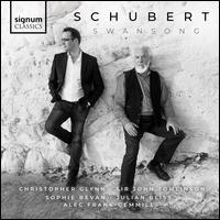 Schubert: Swansong - Alec Frank-Gemmill (horn); Christopher Glynn (piano); John Tomlinson (bass); Julian Bliss (clarinet); Sophie Bevan (soprano)