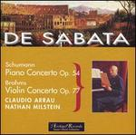 Schumann: Piano Concerto Op. 54; Brahms: Violin Concerto Op. 77