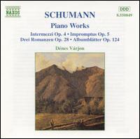Schumann: Piano Works - Dénes Várjon (piano)