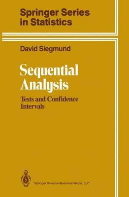 Sequential Analysis - Siegmund, David