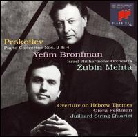 Sergei Prokofiev: Piano Concertos Nos. 2 & 4; Overture on Hebrew Themes, Op. 34 - Giora Feidman (clarinet); Joel Krosnick (cello); Joel Smirnoff (violin); Juilliard String Quartet; Robert Mann (violin);...