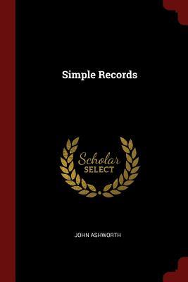 Simple Records - Ashworth, John