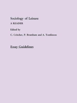 Sociology of Leisure TM - Critcher