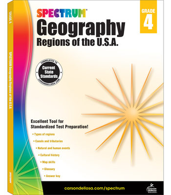 Spectrum Geography, Grade 4: Regions of the U.S.A. - Spectrum (Compiled by)