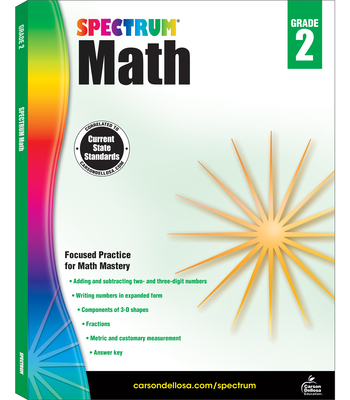 Spectrum Math Workbook, Grade 2 - Spectrum (Compiled by)