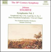 Stamitz: Symphonies Vol. 1 - New Zealand Chamber Orchestra; Donald Armstrong (conductor)