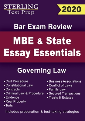 Sterling Test Prep MBE and State Essays Essentials: Governing Law for Bar Exam Review - Prep, Sterling Test