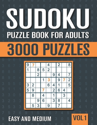 Sudoku Puzzle Book for Adults: 3000 Easy to Medium Sudoku Puzzles with Solutions - Vol. 1 - Books, Visupuzzle