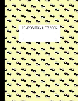 Sushi Composition Notebook: Composition Sushi Ruled Paper Notebook to write in (8.5'' x 11'') - Italian Notebooks Creations