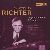 Sviatoslav Richter plays Schumann & Brahms - Borodin Quartet; Mstislav Rostropovich (cello); Nina Dorliac (soprano); Sviatoslav Richter (piano)