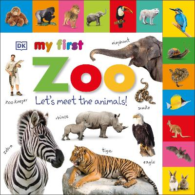 Tabbed Board Books My First Zoo - DK