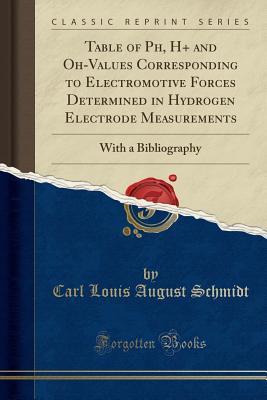 Table of Ph, H+ and Oh-Values Corresponding to Electromotive Forces Determined in Hydrogen Electrode Measurements: With a Bibliography (Classic Reprint) - Schmidt, Carl Louis August