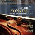 Tartini Sonatas, Vol. 2: 5 Sonatas for Violin and B.C.