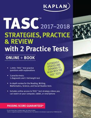Tasc Strategies Practice Review 2017 2018 With 2 Tests Online